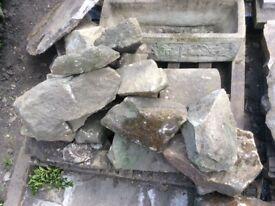 Sandstone blocks and boulders