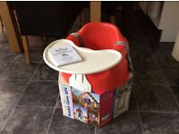 Red Bumbo Chair with tray for sale