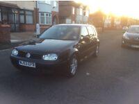 Volkswagen Golf 1.6 match 5dr hatchback petrol manual 2003 black colour full service history £850