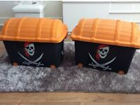 Pirate storage boxes x 2