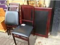 Set of 3 folding chairs & 1 folding table