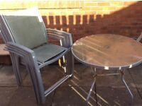 Outdoor Table & 4 Chairs. Collection only!