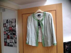 Lovely short green New size 12 Chanel style Jacket