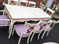 Cream Table & Chairs