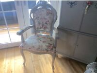 Stunning antique Louis style bedroom chair solid mahogany