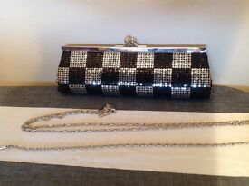 Evening clutch bag (NEW with shoulder chain)