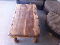VERY GOOD CONDITION! Solid Indian timber coffee table, excellent craftmanship