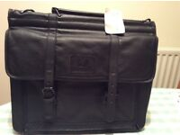 NWT black Milano leather briefcase