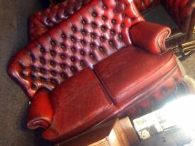 2 X seater Chesterfield sofa