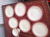 Aynsley Bone China Durham Pattern 6 X Tea Plates and 1x Teacup