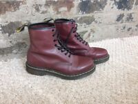 Cherry red Dr Martens UK size 7. Collection only