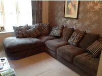 5 seater corner sofa with double sofa bed (bed unused)