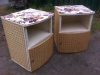Beautiful vintage reproduction pair of bedside cabinets