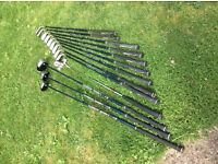 Golf clubs by Dunlop plus bag,balls and tees