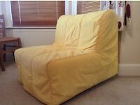 Very comfortable single sofa bed with yellow cover