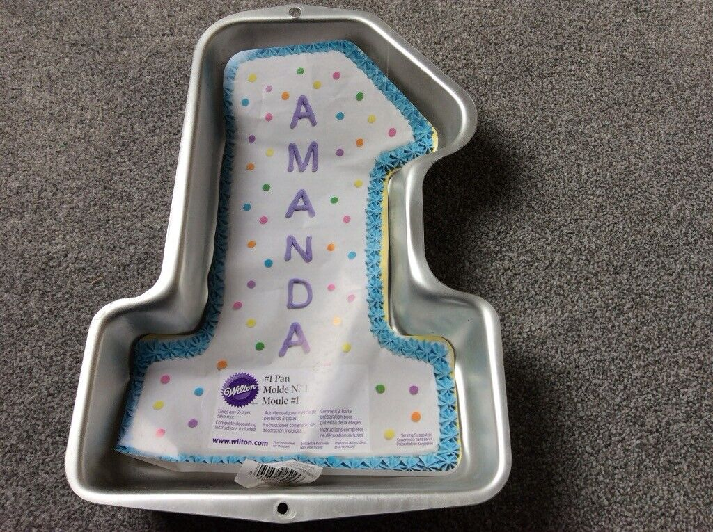 Birthday Cake Tin For 1 Year Old