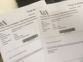 TOMORROW 2 x Pink Floyd 'Their Mortal Remains' tickets at the V&A
