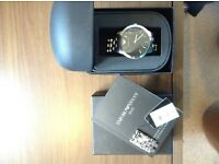 EMPORIO ARMANI watch with complete box