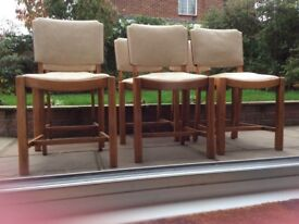 Set of 6 Art Deco dining room chairs