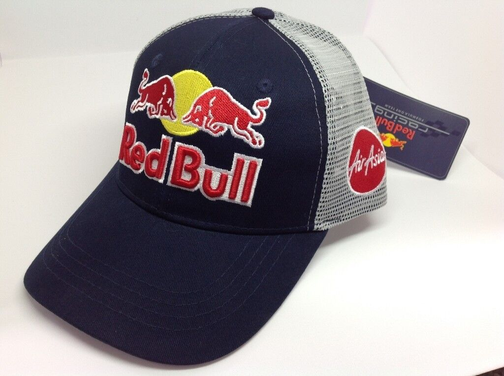 Red Bull Baseball Cap Trucker Breathable Cap F1 Snapback Motorcycle Cap da8ce470507
