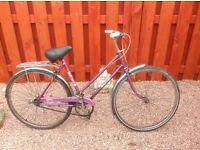 Retro ladies Raleigh caprice town bike
