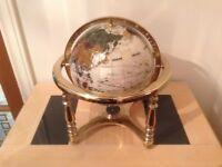 Beautiful World Globe set with semi precious stones.