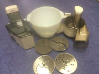Kenwood Chef Attchments, Juicer, Slicer with 4 plates and mixing bowl