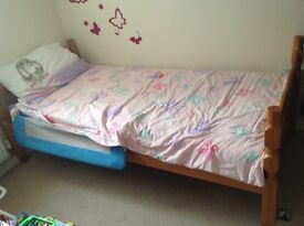 Pine single beds x2 or make into bunkbed