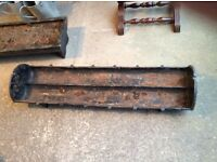 Two Antique cast iron troughsd ideal as planters for the garden