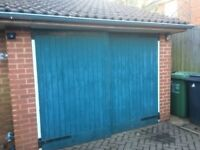 Pair of wooden garage doors 8ftx6.6inches ledge and braced. £100 buyer collects **Still Available**