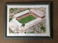 Signed Arsenal Highbury stadium picture framed