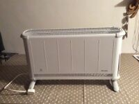 Dimplex electric heater with controls to the side