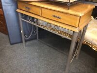 Vintage console table with drawer