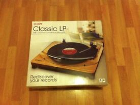 ION CLASSIC LP USB TURNTABLE-BRAND NEW IN BOX