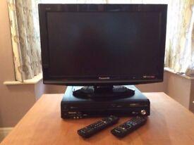 PANASONIC LCD TV and PANASONIC DVD/VHS PLAYER/RECORDER