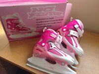 "Junior Girls ""No Fear"" Adjustable Ice Skates (size 3-6)"