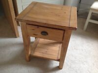 Oak bedside table nearly new excellent condition