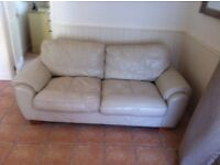 italian leather 2 seater, 3 seater and chair