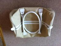 Cream hold-all or sports bag and black sports bag one price