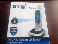 BNIB BT 2200 Nuisance Call Blocker Digital Cordless Phone