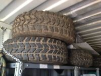 Off road wheels and tyres