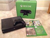 Xbox one console 500gb plus few games