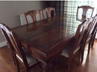 Dining table and chairs. Seats 6