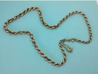 "9ct SOLID GOLD ROPE CHAIN NECKLACE 17"" LONG 13.1 GRAMS NOT SCRAP"