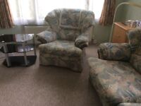 3 seater settee with matching chair gplan