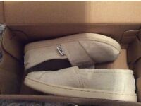 Brand new Toms Classic slip on shoes