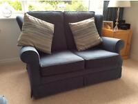 Sofa's (2) - Blue Fabric - Very Good Condition - Will Sell Separately ONO Accepted