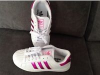 Adidas Superstar size 5.5 copies never worn as there more like a size 5