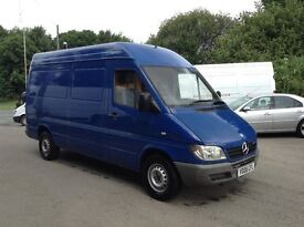 2006 mercedes sprinter 311 cdi mwb high roof van 1 owner from new