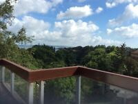 Penthouse Flat terraced balcony/views Cramond area